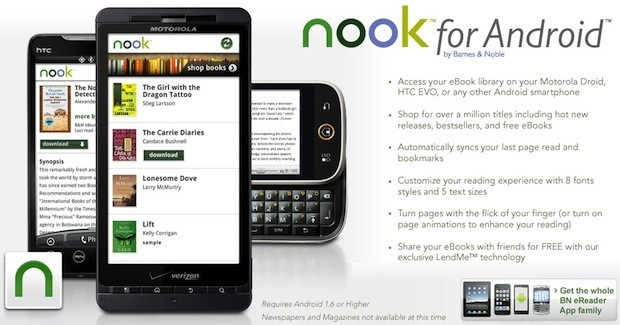 Barnes and Noble Takes Nook E-Reader Library Mobile With Android App