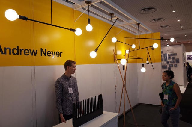21 Stick-Obsessed Lighting Designers Who Turned ICFF Into A Giant LED Forest