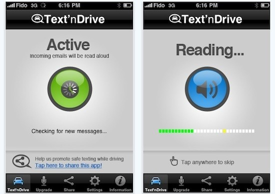 Misnamed iPhone App Makes Mailing and Driving Safe-ish