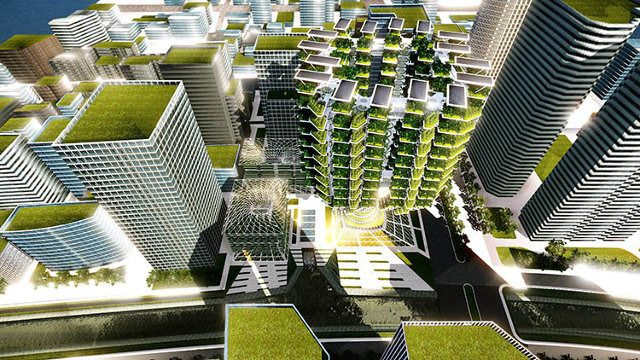 This Tree-Shaped Farm-On-A-Skyscraper Could Bring Acres Of Crops Into The City