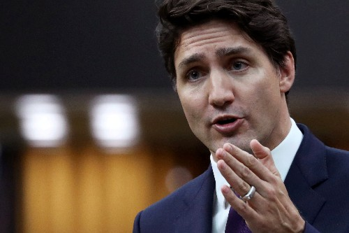 Canada's PM Trudeau says will speak to steelworkers at 1330 (1730 GMT)