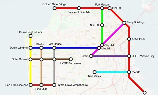 What If Bike Paths Looked Like Subway Maps?