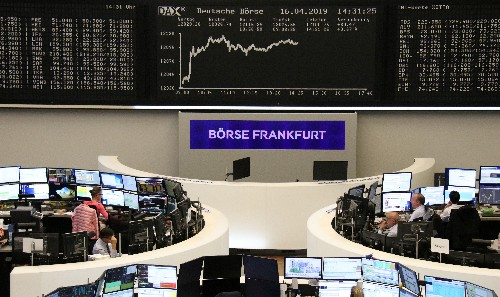 European shares little changed as earnings boost offsets tepid PMIs