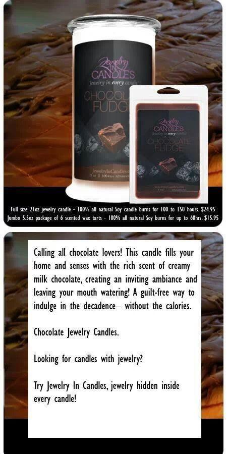 Chocolate Fudge www.jewelryincandles.com/store/scentedtreasure