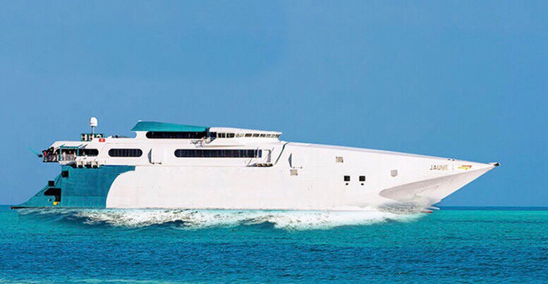 The Bahamas Fast Ferry, with service to Grand Bahama Island and Bimini