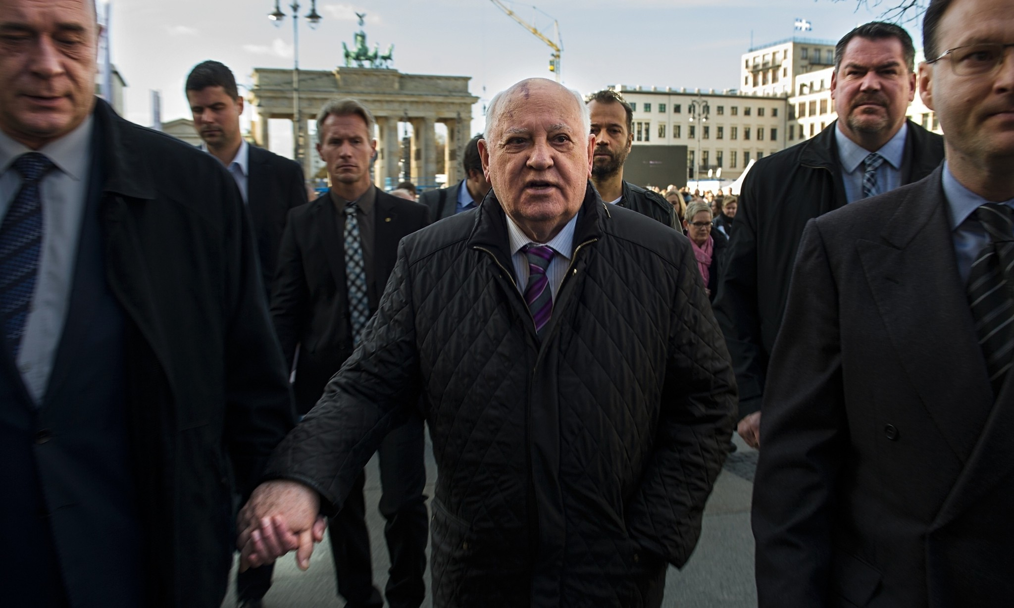 Gorbachev warns of new cold war threat as Berlin marks fall of wall