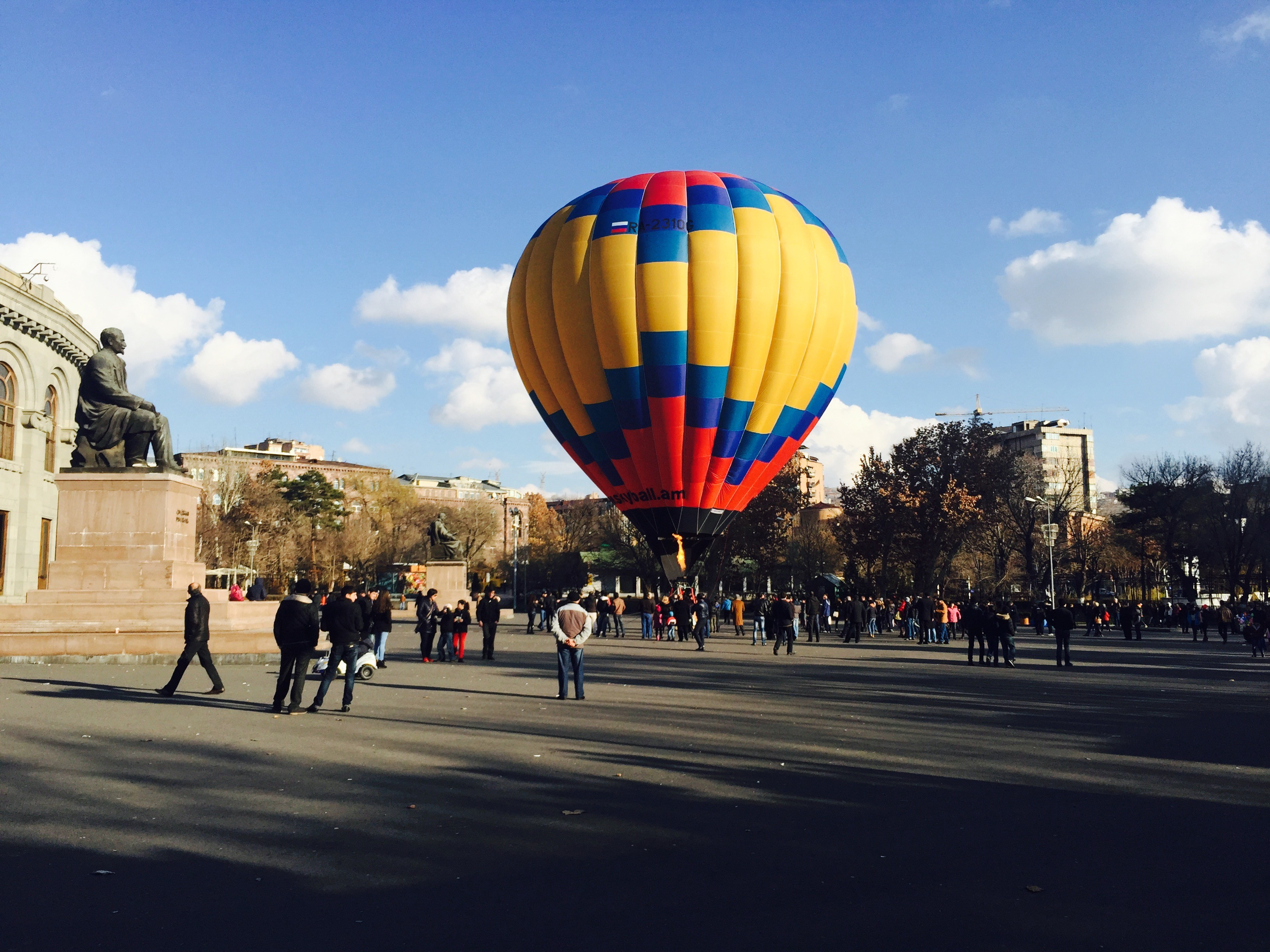 New year 2015 in Armenia. In the square of opera