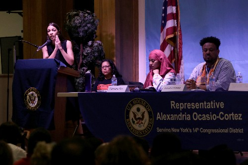 Trump relished rally chant, Ocasio-Cortez tells constituents in Queens
