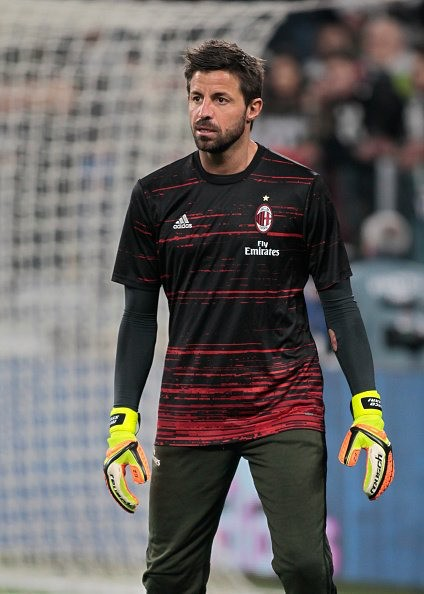 Marco Storari (born 7 January 1977) is an Italian footballer who plays for A.C. Milan as a goalkeeper. After a lengthy spell in Italy's lower leagues, he arrived in Serie A aged 27. Steady performances for Messina prompted his signing by A.C. Milan in 2007, and he joined Juventus three years later where he mainly served as a back-up to Gianluigi Buffon, winning four consecutive Serie A titles with the club as well as the Coppa Italia.