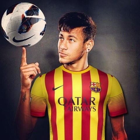 Neymar jr mit Barcelona auswärts Trikot