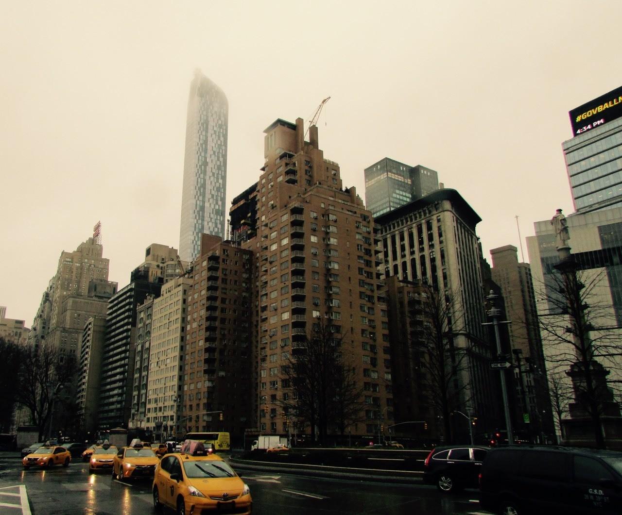 New York - mist, rain and gloom...