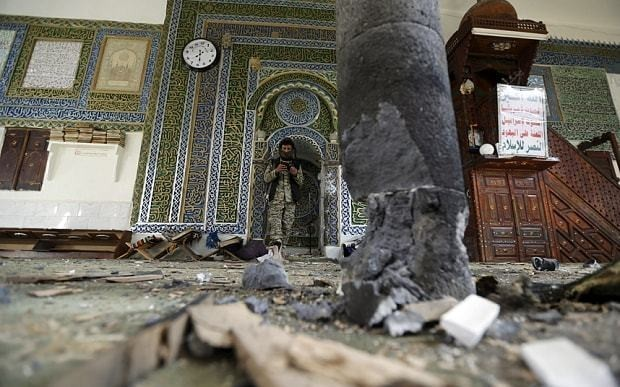 Deadly blast hits mosque in Yemen killing at least 25 during Eid prayers