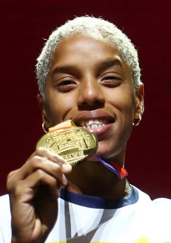 Venezuela's Rojas sets world indoor triple jump record