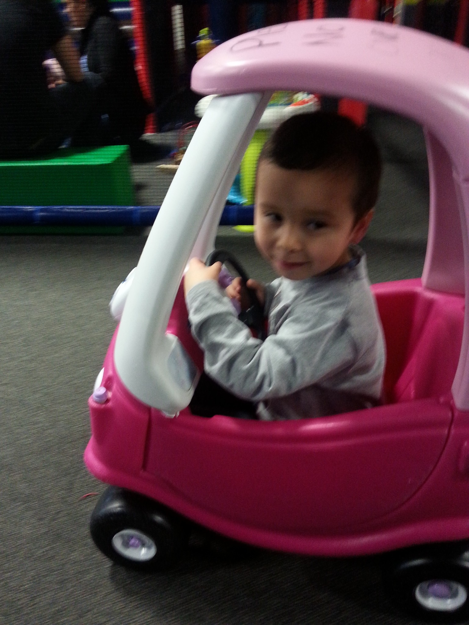 Hahaha nice car kid