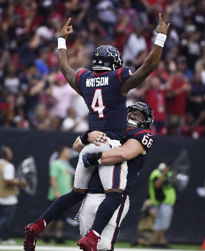 Watson throws 5 TDs, 3 to Fuller; Texans top Falcons 53-32