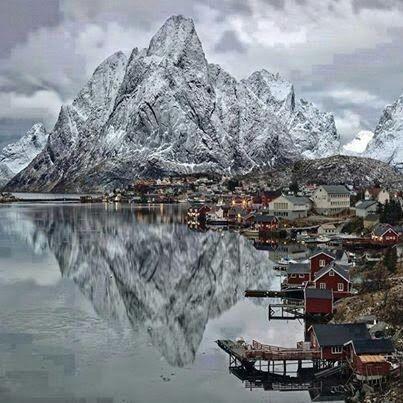Lofoten islands in Norway.