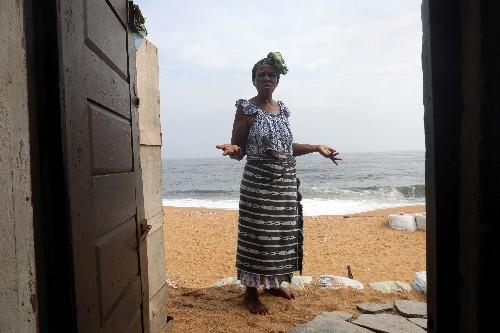 Ivory Coast town sinking underwater as coastal erosion advances