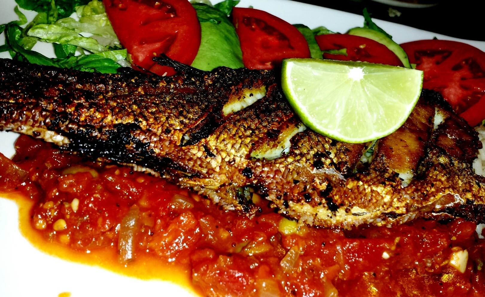 red snapper. .veracruzana style...:)
