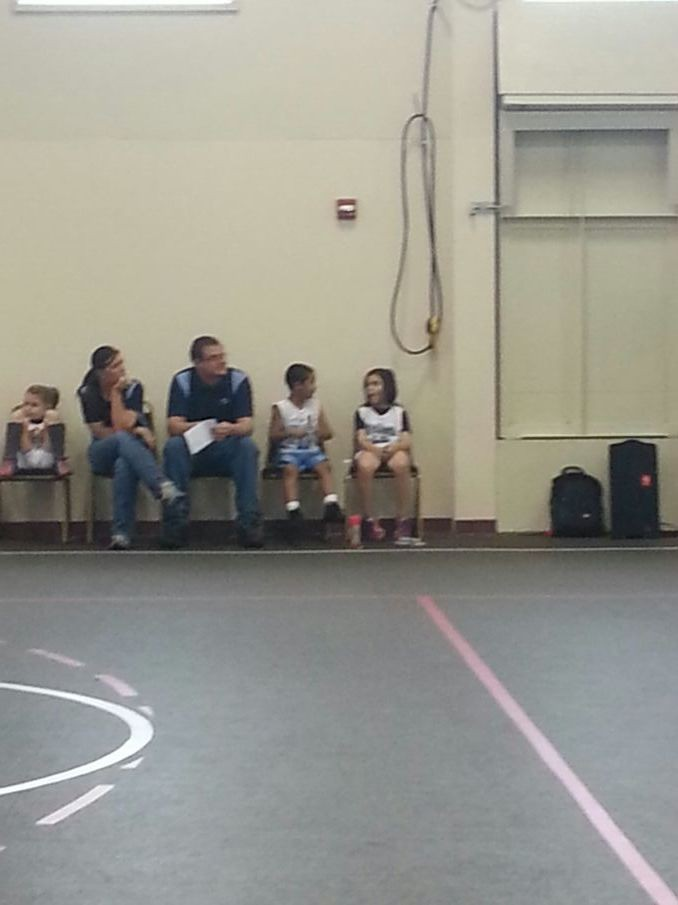 My smallest angels first basketball game.