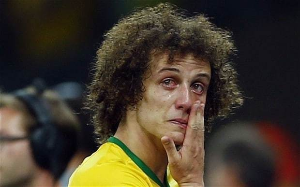 David Luiz apologises to the whole country of Brazil after 7-1 World Cup 2014 semi-final defeat to Germany