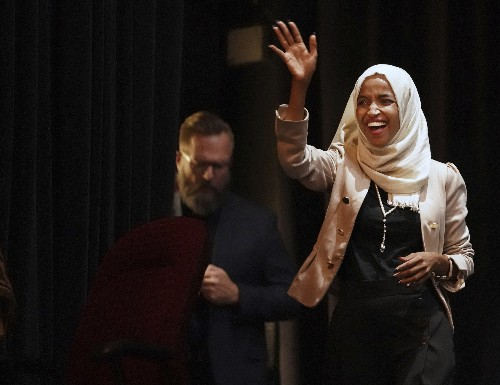 Trump disavows 'send her back' cry, Omar stands defiant