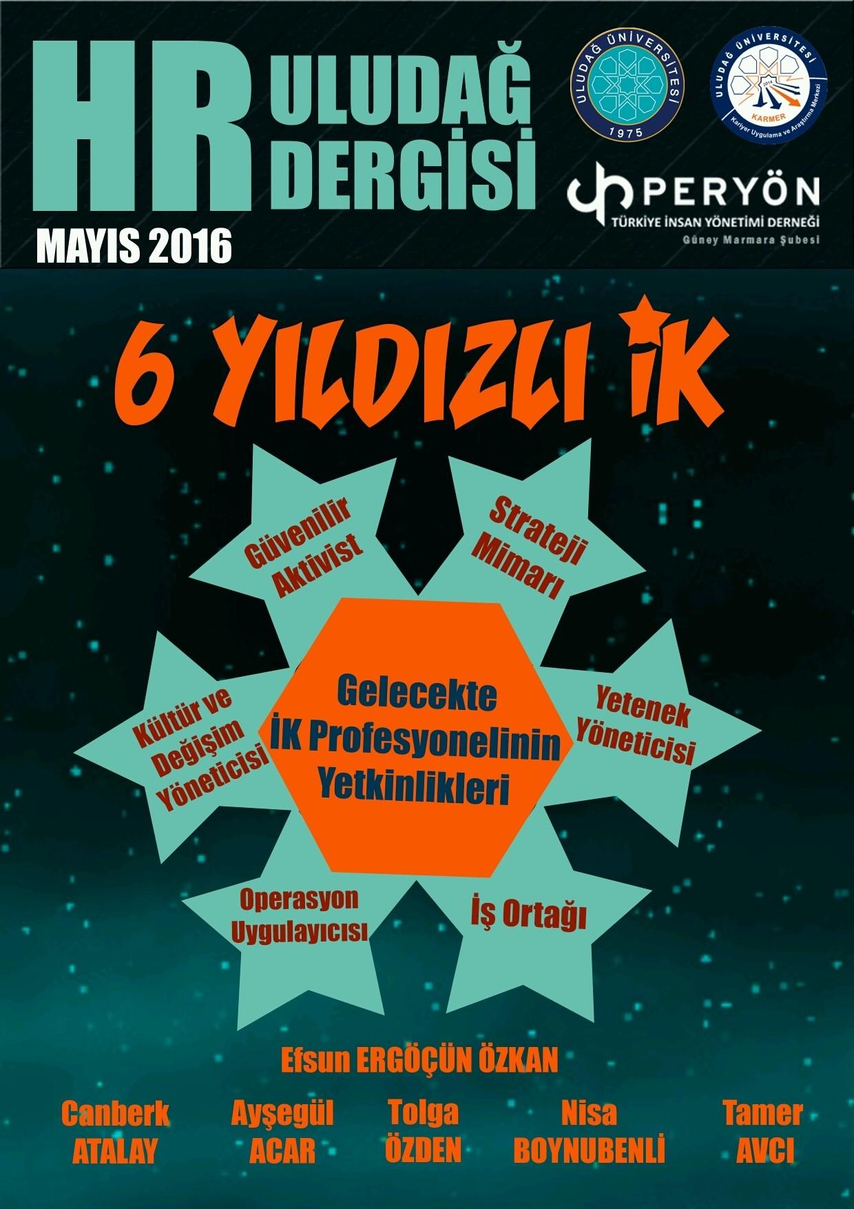 HR ULUDAĞ DERGİSİ - Magazine cover