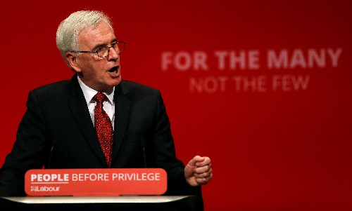 Saturday's Brexit vote will be 'pretty close': Labour's McDonnell