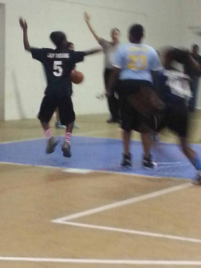 My baby getting ready you pass the ball in