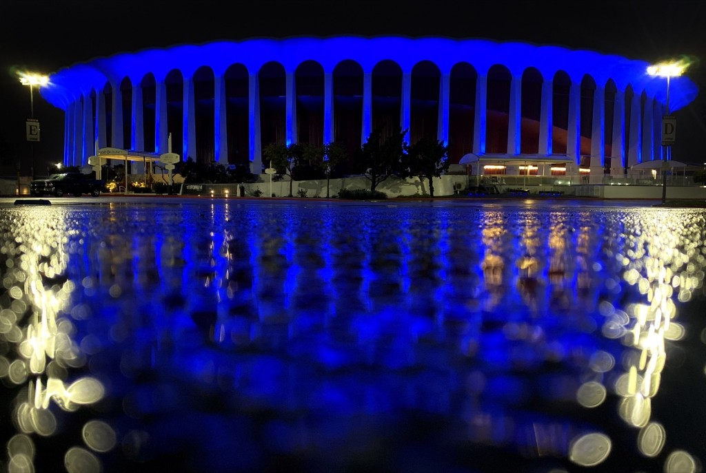 Light It Blue Honors Essential Workers: Pictures