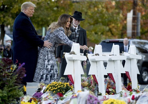 Trumps pay tribute at synagogue where 11 were fatally shot