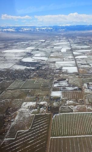 Farmland near Alamosa, Colorado