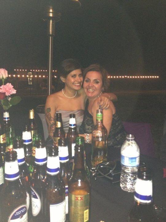 Vanni and i at mokikas wedding