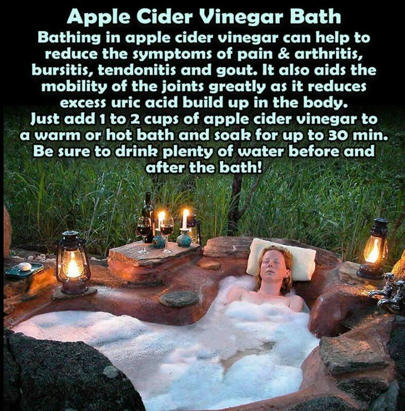 Apple Cider Vinegar Bath Helps With Lots of Pain Issues