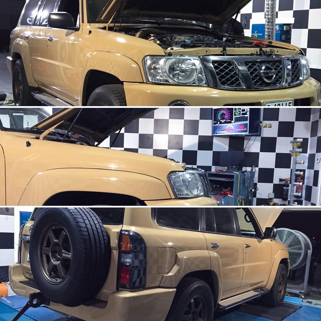 Nissan patrol turbo kit by NAS RACING DUBAI