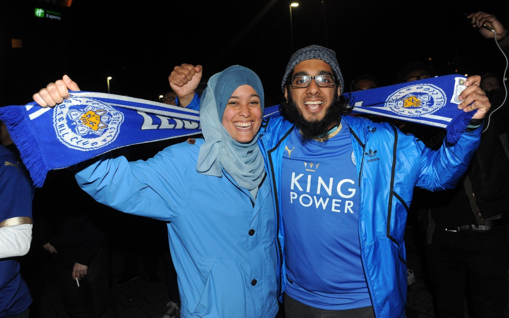 Leicester City fans celebrate – in pictures