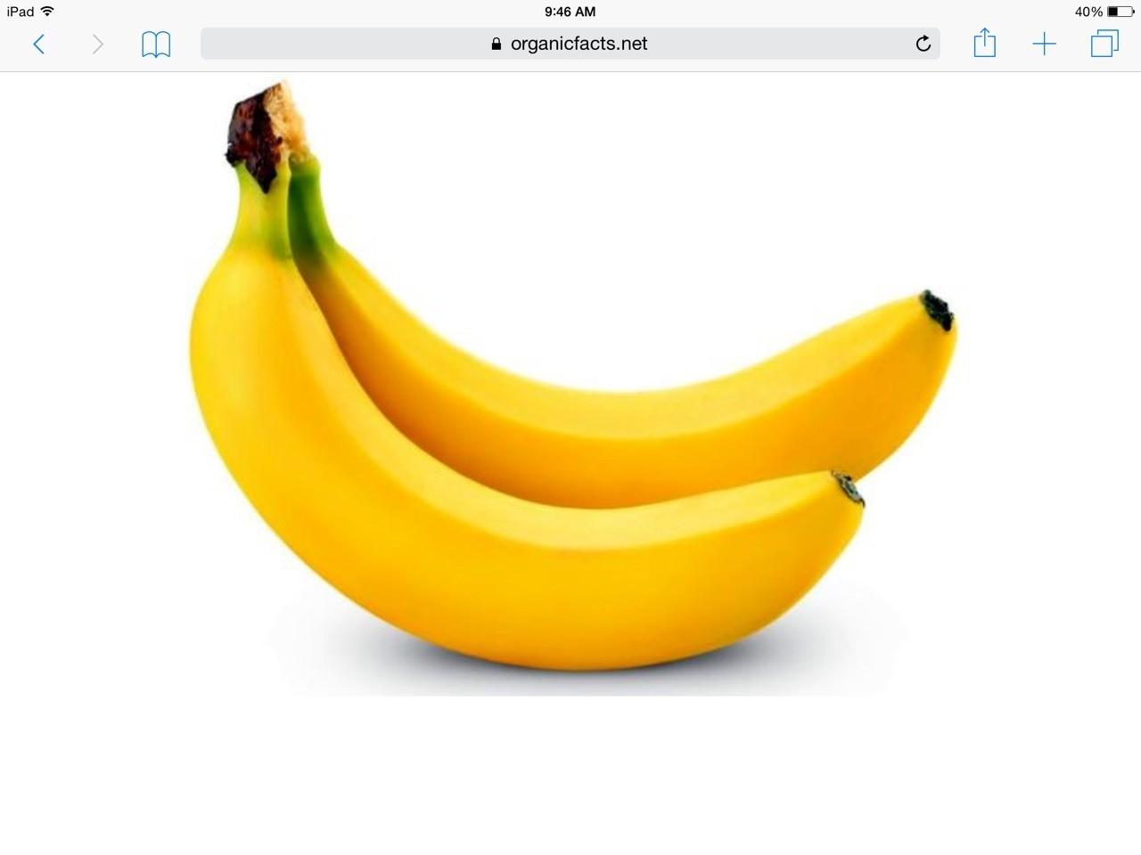 Bananas are yellow!
