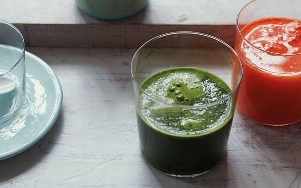 Anti-ageing juice: carrot, sweet potato and turmeric