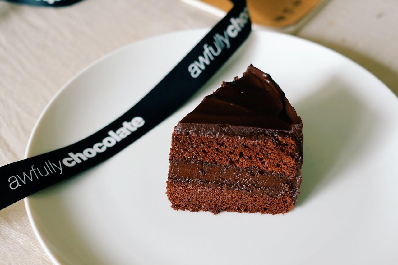 巧克力蛋糕像是美好的梦境,你知道吃多了总要停下来,带着一点点懊恼。