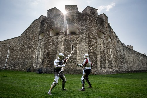 Prepping for the 'Go Medieval' Festival in London: Pictures