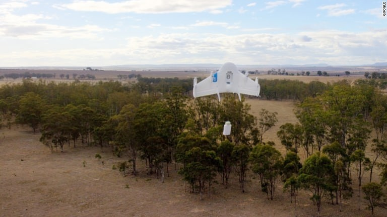 Google reveals secret drone delivery tests