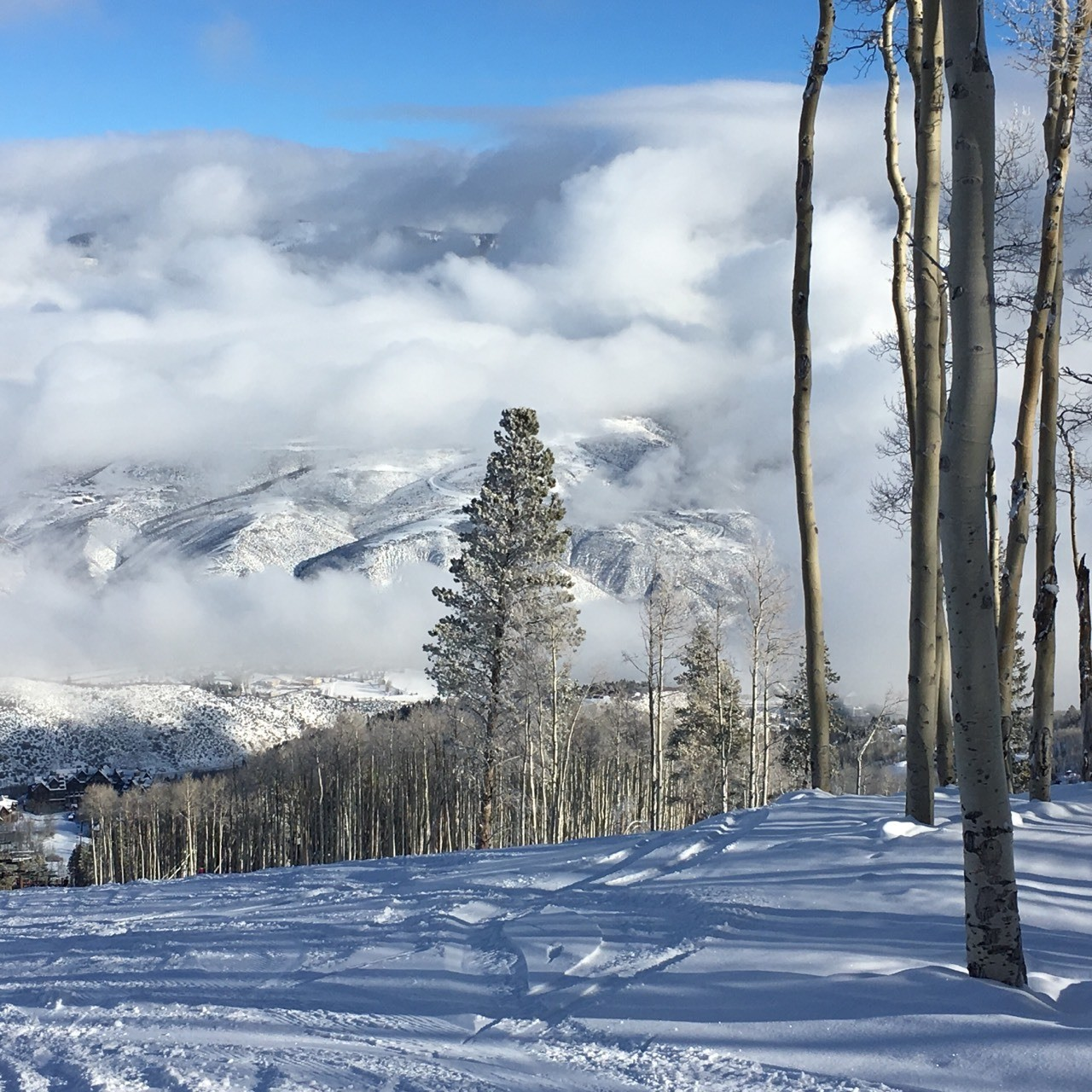 A lovely cloudy day at Bachelor Gulch
