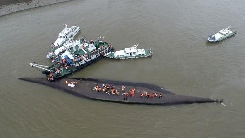 Passenger Ship Sinks in the Yangtze River in China