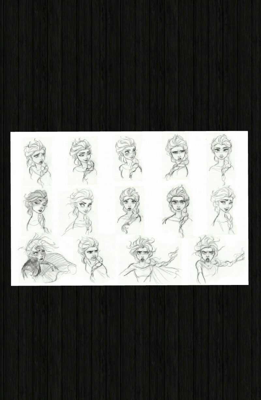 Elsa con diferentes expresiones