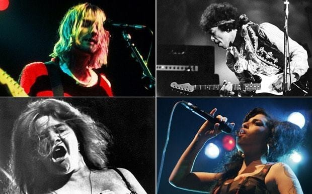 Rock stars really do die young: study finds musicians die 25 years younger than average person