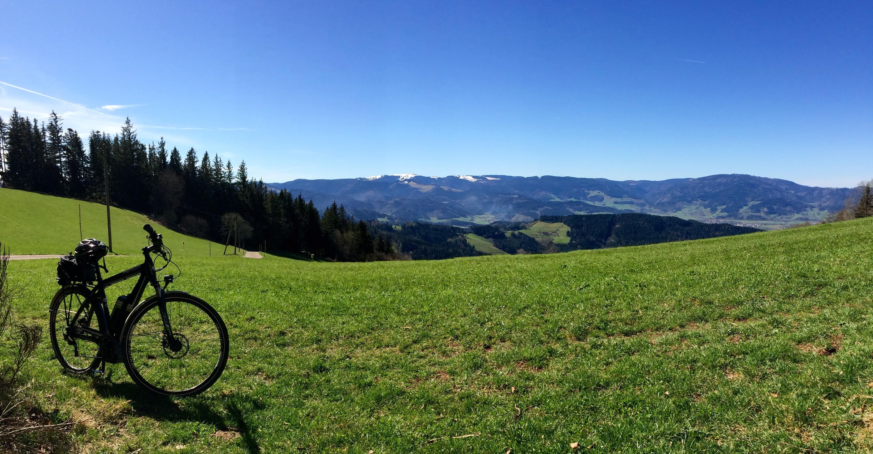 Das geile Wetter vor Arbeitsbeginn genossen. An der Lindlehöhe bei St. Peter im Schwarzwald