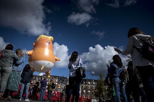 Trump blimp in Copenhagen on day he was scheduled to arrive