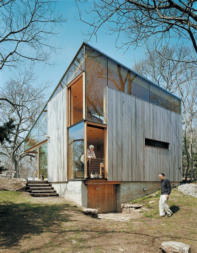 Articles about striking angular cottage connecticut on Dwell.com