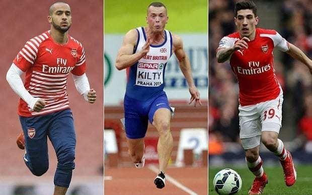 Arsenal's Theo Walcott and Hector Bellerin challenged to £30,000 race by sprinter Richard Kilty