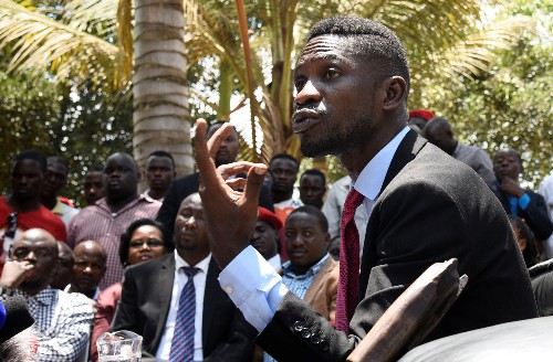 Ugandan pop star and critic of President Museveni detained over protest