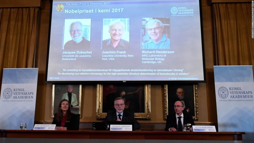Nobel Prize in Chemistry awarded for cryo-electron microsopy